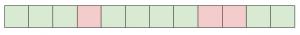 Пример плохого файла, в нем есть переписанные сектора (мы использовали красный цвет для переписанных, зеленый - для не переписанных секторов)
